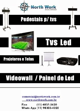 Foto 1 - Locação Tv Led SP, Tripe para Tv, Videowall SP